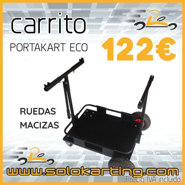 Carrito portakart Eco Negro Ruedas Macizas